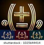 vector reflective golden...   Shutterstock .eps vector #1025644414