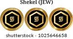 set of physical golden coin... | Shutterstock .eps vector #1025646658