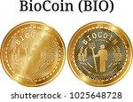 set of physical golden coin... | Shutterstock .eps vector #1025648728
