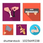 playing on an electric musical... | Shutterstock .eps vector #1025649238