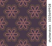 oriental motifs. round ornament ... | Shutterstock .eps vector #1025649928