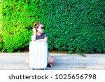 portrait charming beautiful...   Shutterstock . vector #1025656798