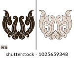 thai painting style vector... | Shutterstock .eps vector #1025659348