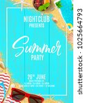 beautiful flyer for summer... | Shutterstock .eps vector #1025664793