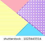 colorful pastels paper art... | Shutterstock .eps vector #1025665516
