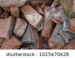 rough red brick | Shutterstock . vector #1025670628