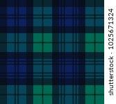 black watch style tartan... | Shutterstock .eps vector #1025671324