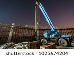 mobile forklift crane for... | Shutterstock . vector #1025674204