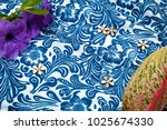 fabric pattern color blue... | Shutterstock . vector #1025674330