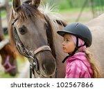 horse and lovely girl   best... | Shutterstock . vector #102567866