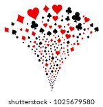 playing card suits burst...
