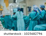 blurred of modern cath lab with ... | Shutterstock . vector #1025682796