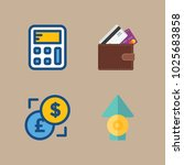 icons currency with exchange ... | Shutterstock .eps vector #1025683858