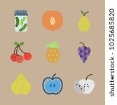 icons fruits and vegetables... | Shutterstock .eps vector #1025685820