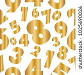 abstract numbers golden... | Shutterstock .eps vector #1025690026