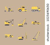 icons construction machinery... | Shutterstock .eps vector #1025690650