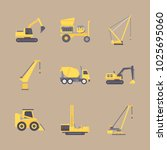 icons construction machinery... | Shutterstock .eps vector #1025695060