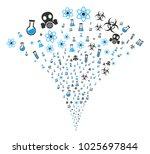 chemistry symbols fireworks... | Shutterstock .eps vector #1025697844