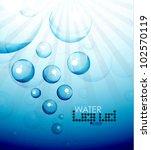 deep water bubble background   Shutterstock .eps vector #102570119