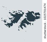 falkland islands map on white... | Shutterstock .eps vector #1025701474