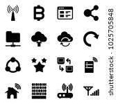 solid vector icon set   antenna ... | Shutterstock .eps vector #1025705848