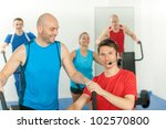 young fitness instructor lead
