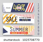 set of three different sale... | Shutterstock .eps vector #1025708770