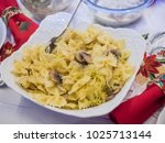 lazanki is pasta mixed with...   Shutterstock . vector #1025713144