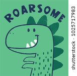 cute dinosaur drawing as vector ... | Shutterstock .eps vector #1025717983