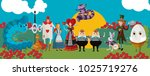 wonderland classic tale... | Shutterstock .eps vector #1025719276