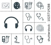 listen icons. set of 13... | Shutterstock .eps vector #1025719288