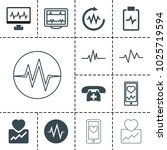 cardiogram icons. set of 13... | Shutterstock .eps vector #1025719594