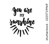 you are my sunshine   hand... | Shutterstock .eps vector #1025719969