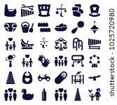 childhood icons. set of 36... | Shutterstock .eps vector #1025720980