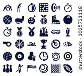 competition icons. set of 36... | Shutterstock .eps vector #1025721118