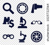 zoom icons. set of 9 editable... | Shutterstock .eps vector #1025722564