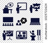 lecture icons. set of 9... | Shutterstock .eps vector #1025722624