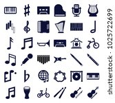 musical icons. set of 36... | Shutterstock .eps vector #1025722699