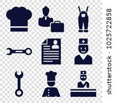 profession icons. set of 9... | Shutterstock .eps vector #1025722858