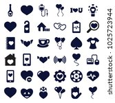 heart icons. set of 36 editable ... | Shutterstock .eps vector #1025723944