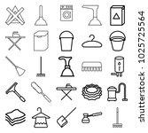 household icons. set of 25... | Shutterstock .eps vector #1025725564