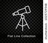 illustration of telescope icon... | Shutterstock .eps vector #1025729548