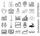 growth icons. set of 25... | Shutterstock .eps vector #1025729824