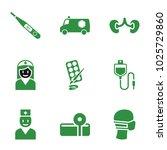 doctor icons. set of 9 editable ... | Shutterstock .eps vector #1025729860