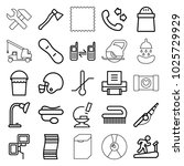 equipment icons. set of 25... | Shutterstock .eps vector #1025729929
