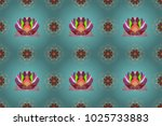 flower painting raster for t... | Shutterstock . vector #1025733883