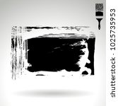 black brush stroke and texture. ... | Shutterstock .eps vector #1025735953