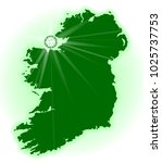 silhouette of eire the emerald... | Shutterstock . vector #1025737753