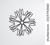 abstract christmas snowflake... | Shutterstock .eps vector #1025743060