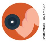 flat icon biceps  gym... | Shutterstock .eps vector #1025744614